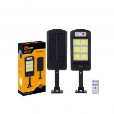 SA-3349 New Arrival SUN AFRICA 365*113mm ABS Solar COB Street Light with 6*COB Light Control/Remote Control/Human Body Induction 3 Step Switch Screw
