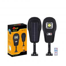 SA-3352 New Arrival SUN AFRICA 520*164mm ABS Solar COB+Lens Street Light with 1*COB Light Control/Remote Control/Human Body Induction 3 Step Switch Battery 5000mAh Screw