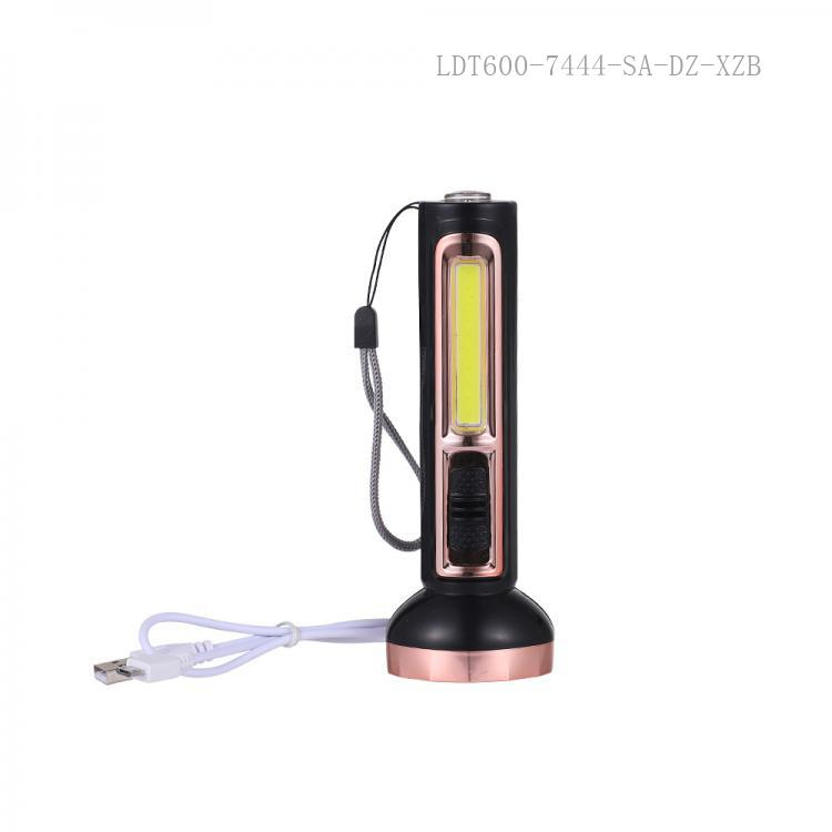 SA-767  SUN AFRICA  New Arrival COB 1W Aluminum Lamp Cup  Flashlight  Rechargeable Torch with Money-Check Lamp  Compass 4 Step Switch  USB/V8 Socket