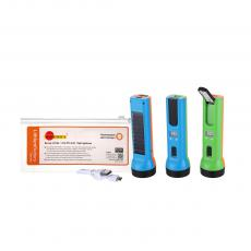 SA-7011 New Arrival Solar Lithium Battery Flashlight with F8 Lamp Bead+2385 Patch Lamp Bead 2 Step Push Switch Time Display 18650 Battery 1200mAh USB/V8 Port