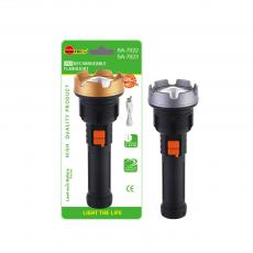 SA-7023 New Arrival SUN AFRICA Lithium Battery Flashlight with 1W Aluminum Lamp Cup 3 Step Button Switch 18650 Lithium Battery 1200mAh V8 Port USB Charging Wire Power Indicator Light
