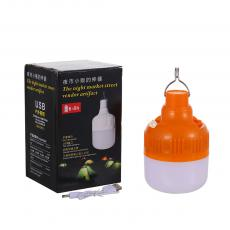 LED-2587-CZY New Arrival DC Rechargeable 50W LED16 SMD Bulb with 18650 Lithium Battery1200 mAh LED-16D 5730 SMD, 3 Steps Switch, USB Input, Hook, Hot Sale Wholesale in Africa.