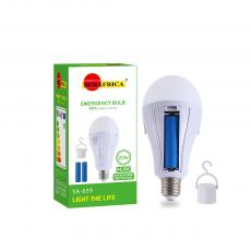 SA-659 Sun Africa LED Emergency Light with Removable  Two  1200 mAh 18650  Batteries 220V/ 15W 28 Beads  5730 SMD Lamp  3.5 Charging Hours 5 to 6 Hours Emergency Discharge 8.8*16 CM Product Size  Hot Sale Wholesale in Africa