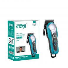 ST-5612 New Arrival WINNING STAR AC110-240V 5W Hair Clipper with Lithium Battery 2200mAh Limit Comb*4 Small Brush Oil Bottle USB Cable Adapter VDE Plug