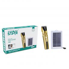 ST-5614 New Arrival WINNING STAR AC 110-240V 5W Hair Clipper with Solar Panel 2-Speed Button Switch Adjustable Blade Pure Copper Motor 18650 Lithium Battery 3000mAh Adapter Positioning Comb*4 Small Brush Oil Bottle 2.4m Copper Cable VDE Plu