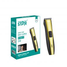 ST-5617 New Arrival WINNING STAR DC 110/220V 3W Rechargeable Hair Clipper with Carbon Steel Blade Ni-Cd AA Battery 600mAh*2 Positioning Comb*4 Small Brush Oil Charging Wire