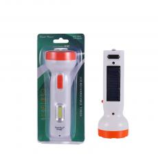 OP-9556S  New Arrival  COB 1 W Solar Flashlight Rechargeable Torch  with 250 mAh Storage Acid Battery 2 Step Switch Height: 14.7 CM Head Diameter: 5.2 CM  Hot Sale Wholesale in Africa