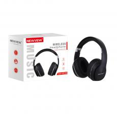 NV-8126 New Arrival NEWVEW V5.0 Bluetooth Wireless Headset Headphone with Bluetooth/TF/FM/EQ/MP3/Call Rechargeable Lithium Battery 500mAh Power Indicator Light Working Time 12h USB Charging Wire Audio Wire