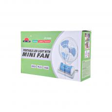 JR-5588 Fan with colored box usb charging line