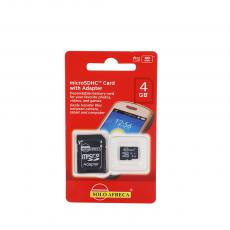 CLASS10 New Arrival SOLOAFRECA 4G Micro SD CardTF Card Memory Card with Adapter-10Mb/s