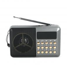 H033UR Radio Rechargeable with USB/TF FM Display Screen Rope USB Cable