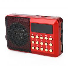 H044UR Radio Rechargeable with USB/TF FM Display Screen Rope USB Cable 3.7V/800MAH Battery