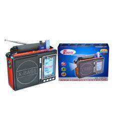 FP-1337U Hot Sale Portable Wireless DC 3V Radio with Aerial LED Light FM/AM/SW1-8  Bands USB/SD/TF Socket 2 Pcs * D Size Battery Carrier Blet