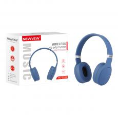 NV-8130 New Arrival NEWVEW V5.0 Bluetooth Wireless Headset Headphone with Bluetooth/TF/FM/EQ/MP3/Call Lithium Battery 200mAh Working Time 6h USB Charging Wire Audio Wire