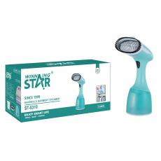 ST-5310 New Arrival WINNING STAR 1500W Handheld Travel Garment Steamer with 360ml Removable Water Tank 22±5g/min Steam 2 Steaming Modes 1.5m Charging Cable VDE Plug