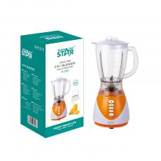 ST-5595 New Arrival WINNING STAR 300W 1.5L Electric Multi-Functional Juicer Blender with Stainless Steel 4-Blade Cup+ Stainless Steel 2-Blade Cup 7020 Copper Clad Aluminum Motor 1.2m Copper Charging Wire BS Plug