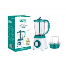 ST-5592 New Arrival WINNING STAR 500W 1.5L Electric Multi-Functional Juicer Blender with PS Cup +4-Blade 201 Steel Glass Cup+2-Blade Cup Temperature Control 7620 Copper Clad Aluminum Motor 1m Copper Charging Wire VDE Plug