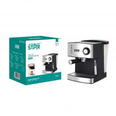 ST-9702 New Arrival WINNING STAR Espresso Machine Coffee Maker 850W with Foaming Milk Frother Wand Warm Cup Plate Automatic Pressure Relief Overheat Protection 80cm Copper Charging Wire BS Plug