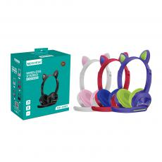 NV-8107 New Arrival NEWVEW 5.0+EDR Bluetooth Cat Ear with Headset Headphone with Bluetooth/MP3/Call Battery 300mAh Standby Time 180h Work Time 6h Power Indicator Light LED Flashing Microphone