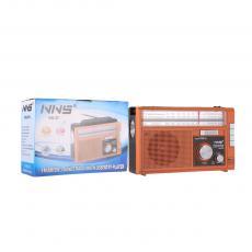 NS-251U Hot Sale  Rechargeable Radio wth FM/AM/SW/SD/TF/USB 1*LED light Charging Cord Handle Loop.