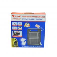 RX-3806BT Solar Emergency Light color box with USB/TF card