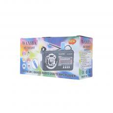 XB-593URT Radio with colored box FM/AM/SW/USB/TF/MP3
