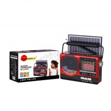 SA-117BTS New Arrival SUN AFRICA Portable Solar Radio with Bluetooth/USB/TF/AUX/DC5V/FM/AM/SW1-6 radio External Antenna LED Beads Solar Panel 18650 Lithium Battery 1 USB Charging Cable Use 2*1# Battery Hot Sale Wholesale in Africa