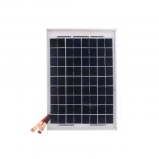 10W/18V Polycrystalline Solar Panel With 1.5m Wire Silvery White Aluminum Substrate Frame Storage Battery Clamps
