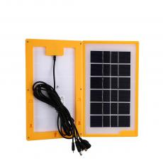 KL-788 Hot Sale Mini Solar Power Crystal System with 5 Hubs DC 5.0 Sockets for Nokia small head /V8/V3/USB 191CM Charging Wire