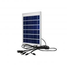 KL-888AI 5W/15V Solar Panel With 5 IN 1 Nokia Small DC5.0 V8 V3 USB Head Charger