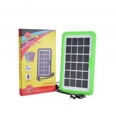 Mini Portable 6V 3.5W Home Solar Panel Lighting System with 5 DC Outputs.300Mah Lithium Battery,USB Charging Cables