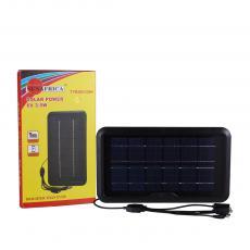 Hot Sale  Rechargeable 3.5W 6V 600 mA Black Polycristallian  Solar Panel with 5 Hubs  for DC /V3/V8 / USB Sockets.