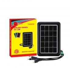 Hot Sale  Rechargeable 2W 5V 360 mA   Solar Panel with 5 Hubsfor V3/V8/DC2.0/DC 5.0/G600.