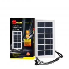 Hot Sale  Mini 3.5W 6V 600 mAh Polycrystalian Solar Panel Aluminum Fram with 5 Hubs 175cm Powr Cord Unit Size 252*138mm