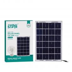 ST-001 New Arrival WINNING STAR 12V/10W Polycrystalline Solar Panel with Aluminum Alloy Frame 666mA DC 5521 Plug 5m Line