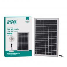 ST-002 New Arrival WINNING STAR 15V/10W Polycrystalline Solar Panel with Aluminum Alloy Frame 666mA DC 5521 Plug 5m Line