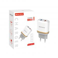 NV-A0125 New Arrival NEWVEW 2.4A Power Adapter Charger with USB*2 VDE Plug