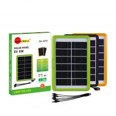 SA-4013 New Arrival SUN AFRICA 6W/6V Plastic Frame Solar Panel with 2.5m Line 5 In 1 V8/V3/DC2.0/DC5.5/G600 Short Line
