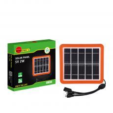 SA-4035 New Arrival SUN AFRICA 2W/5V Polycrystalline Solar Panel with 2m 5 in 1 DC5V/6101/V8/V3/USB Wire