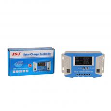 JNJ-630/30A New Arrival Solar Charge Controller 12/24V/48V 20A with 13.7V/*2 24V Overcharge Current 10.5-11V/*2 24V Overdischarge Current -3mV/℃/Cell Temperature Compensation No-Load Loss<45mA Loop Pressure Drop<200mV LCD Display 4 5V/2A US