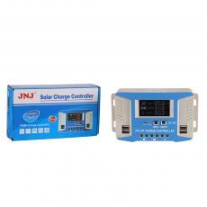 JNJ620/20A New Arrival Solar Charge Controller 12/24V/48V 20A with 13.7V/*2 24V Overcharge Current 10.5-11V/*2 24V Overdischarge Current -3mV/℃/Cell Temperature Compensation No-Load Loss<45mA Loop Pressure Drop<200mV LCD Display 4 5V/2A USB