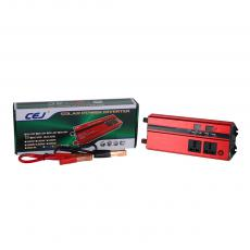 CJ-DDS2000 New Arrival 2000W DC12V-AC220V 50/60hz Solar Power Inverter with 2 Clips Circuit Protection Function 4*USB Port Digital Display