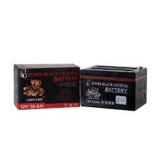 LIGER KING  Hot Sale 4.5 Kgs 12V 55Ah 6 Plate Black  Crystal Acid Storage