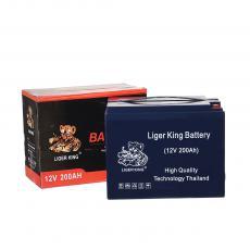 LIGER KING Good Price Deepcycle Storage Battery 12V 55Ah for Solar Lighting 22.3*15.1*18cm