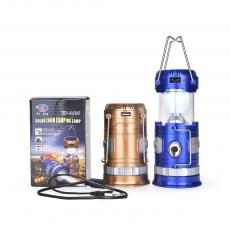 YD-3586 Rechargeable Solar Camping Lantern With Egg Tube USB Interface AC Wire