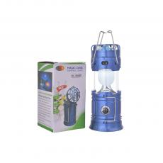 SL-5806F Rechargeable Solar Camping Lantern With Fan AC Charging Line USB Interface