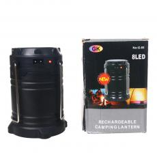 T-81 SMD 5730*6 Rechargeable Round Plug Solar Energy Camping Lantern with USB Interface powered by 3 AA Battery