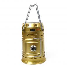 LL-5800 Egg shape Tube SMD10+1W Rechargeable Solar Energy Camping Lantern with USB Interface