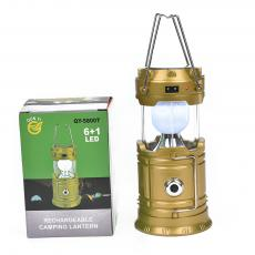 QY-5800T Egg Shape Tube+1w Rechargeable Solar Energy Camping Lantern