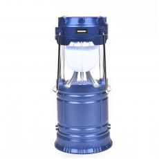QY-5700 Egg Shape Tube+1w Rechargeable Round Plug Solar Energy Cmaping Lantern with Handle